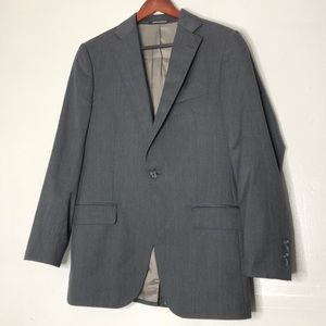 J. Hilburn Gray Single Button Suit Jacket 38S